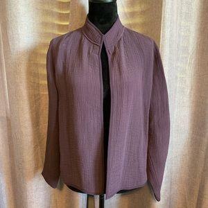 Eileen Fisher silk blend textured blazer